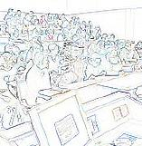 Padding image: outlines of a seminar audience